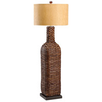 Wildwood Lamps Tommy Bahama 1 Light Woven Bottle Floor Lamp Hand Woven Floor Lamp in Hand Woven Natural Materials 15726 photo thumbnail