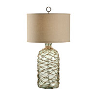 Wildwood Lamps Tommy Bahama 1 Light Bottle Green With Rope Table Lamp 15737