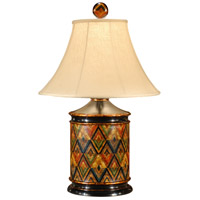 Wildwood Lamps Starburst Pattern Table Lamp in Hand Painted Wood 16068