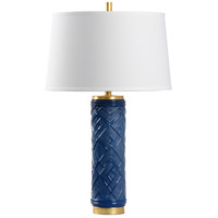 Wildwood 16157 Kuba 30 inch 100 watt Blue Glaze Table Lamp Portable Light