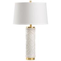 Wildwood 16158 Traditions 30 inch 100 watt White Glaze Table Lamp Portable Light