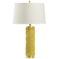 Wildwood 16159 Traditions 30 inch 100 watt Mustard Glaze Table Lamp Portable Light