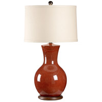 Wildwood Lamps Lucious Red Table Lamp in Porcelain 17108