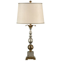 Wildwood Lamps Pewter And Old Gold Table Lamp in Antique Patina 17110