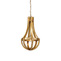 Wildwood Lamps Tuscan 1 Light Hanging Cage Pendant in Old Gold 17145