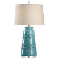 Wildwood 17150 Vietri 32 inch 100 watt Aqua Glaze Table Lamp Portable Light