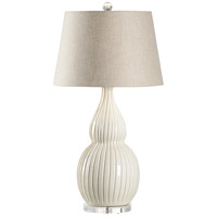 Wildwood 17155 Ventura 35 inch 100 watt Cream and Clear Table Lamp Portable Light