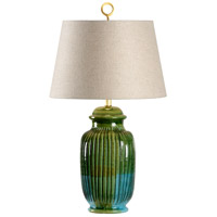 Wildwood 17156 Vietri 31 inch 100 watt Hand Sculpted/Aquamarine Glaze Table Lamp Portable Light