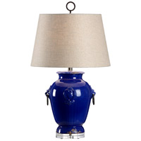 Celia 29 inch 100 watt Aged Cobalt Glaze Table Lamp Portable Light