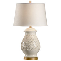 Wildwood 17163 Fiera 30 inch 100 watt Aged Cream Glaze Table Lamp Portable Light