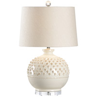 Wildwood 17168 Vietri 27 inch 100 watt Aged Cream Glaze Table Lamp Portable Light