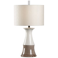 Wildwood 17170 Vietri 28 inch 100 watt Aged Cream/Gray Glaze Table Lamp Portable Light