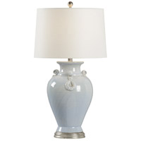 Wildwood 17183 Fabiano 31 inch 100 watt Blue Cloud and Antique Silver Leaf Table Lamp Portable Light