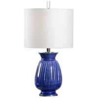Wildwood 17198 Vietri 28 inch 100 watt Cobalt Glaze Table Lamp Portable Light