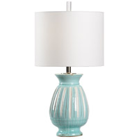 Wildwood 17200 Vietri 28 inch 100 watt Aqua/Aged Cream Glaze Table Lamp Portable Light