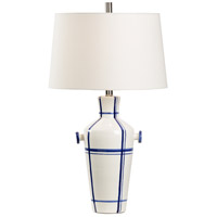 Wildwood 17204 Positano 29 inch 100 watt Chalk and Cobalt Glaze Table Lamp Portable Light