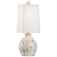 Wildwood 17206 Dimples 24 inch 100 watt Aged Cream and Taupe Glaze Table Lamp Portable Light, Small thumb