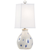 Wildwood 17207 Vietri 24 inch 100 watt Aged Cream/Cobalt Glaze Table Lamp Portable Light Small