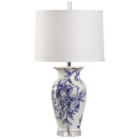 Wildwood 17213 Vietri 33 inch 100 watt White/Blue Glaze Table Lamp Portable Light
