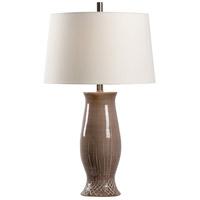 Wildwood 17214 Carmen 28 inch 100 watt Taupe Glaze Table Lamp Portable Light