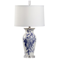 Wildwood 17217 Vietri 28 inch 100 watt White/Blue Glaze Table Lamp Portable Light