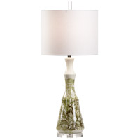Wildwood 17222 Vietri 34 inch 100 watt Cream/Green Glaze Table Lamp Portable Light