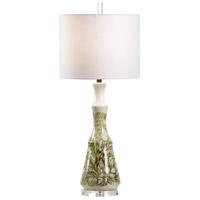 Wildwood 17222 Vietri 34 inch 100 watt Cream/Green Glaze Table Lamp Portable Light
