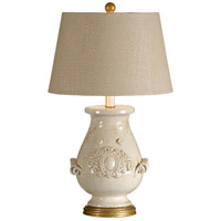 Italia 30 inch 100 watt Old White Glaze Table Lamp Portable Light