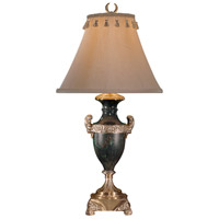 Wildwood Lamps Detail Urn Table Lamp in Cast Brass Excavated Bronze 197