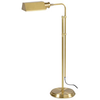 Wildwood Lamps Adjustable Floor Lamp in Antiqued Solid Brass 20
