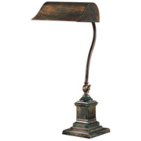Wildwood Lamps Gooseneck Bronze Table Lamp in Excavo Bronze On Solid Brass 2034