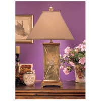 Wildwood Lamps Flower Bound Cannister Table Lamp in Tarnish Patina On Cast Brass 2076-2 photo thumbnail