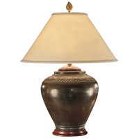 Wildwood Lamps Carved Neck Pot Table Lamp in Hand Finished Tribal Faux 21018