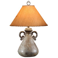 Wildwood Lamps Hammered Bottle Table Lamp in Solid Brass With Oxidized Old Finish 21074