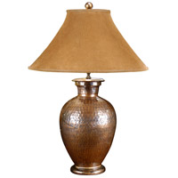 High Country 33 inch 100 watt Hammered Antique Copper Table Lamp Portable Light