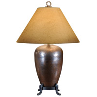 Wildwood Lamps Hammered Copper Table Lamp in Oxidized Old 21093