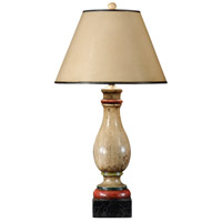 Wildwood Lamps Old Balustre Table Lamp in Hand Painted Faux Wood 21127
