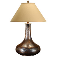 High Country 35 inch 100 watt Hand Hammered Copper Table Lamp Portable Light