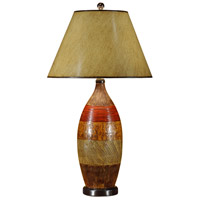 High Country 34 inch 100 watt Hand Colored Ceramic Table Lamp Portable Light