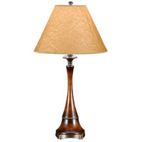 Wildwood Lamps Trumpet Table Lamp in Hand Carved Wood 21171