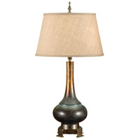 High Country 30 inch 100 watt Faux Weathered Bronze Table Lamp Portable Light