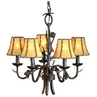 High Country 6 Light 20 inch Lone Pines In Iron Chandelier Ceiling Light