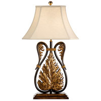 Wildwood Lamps Leafy Swans Table Lamp in Old Country Gold And Silver 21176