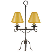 Wildwood Lamps Old Iron Twin Table Lamp in Hand Made And Finished 21204