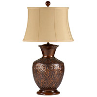 Wildwood Lamps Embossed Vase Table Lamp in Brass With Oxidization 21214