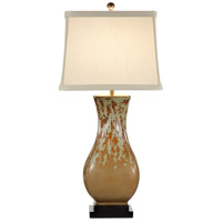 Wildwood Lamps Mottled With Green Table Lamp in Slide Glaze With Antiquing 21222