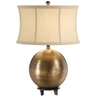 Wildwood Lamps Rippled Ball Table Lamp in Hand Hammered Solid Brass 21223