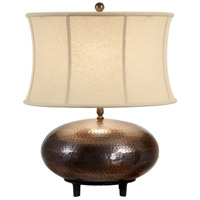 Wildwood Lamps Dimpled Brass Table Lamp in Hand Formed Brass With Antique Patina 21224