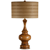 Wildwood Lamps Footed Bottle Table Lamp in Antique Distressed Light Walnut 21227-2