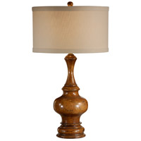 Wildwood Lamps Footed Bottle Table Lamp in Antique Distressed Light Walnut 21227